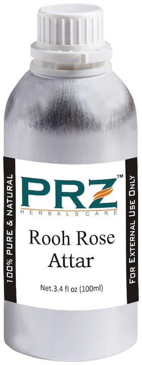 PRZ Rooh Rose Attar For Unisex, Long Lasting & Alcohol Free (100ml) - Pure Natural & Premium Quality Roll-on Attar