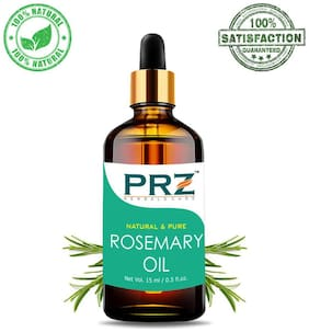 PRZ Rosemary Essential Oil (15 ml) - Pure Natural Use For Aromatherapy, Therapeutic Grade, Health Boost, Hair Re-Growth, Skin Care, Face