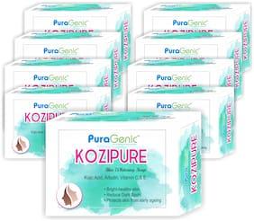 PuraGenic Kozipure Skin Whitening Soap, 75g - Pack of 9