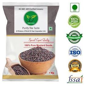 Pure Agro Black Mustard Seeds - Rai ( 1Kg )