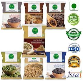 Pure Agro Kitchen Masala Pack of 7 (Green Cardamom, Garam Masala, Clove, Coriander powder, Black Pepper ,Mustard Seeds, Sesame seeds,  100g each )