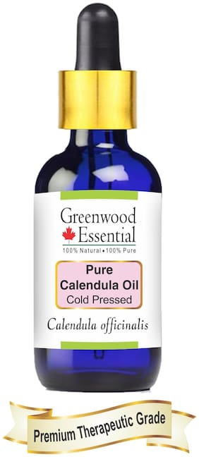 Greenwood Essential Pure Calendula Oil (Calendula officinalis) with Glass Dropper 100% Natural Therapeutic Grade Infused Oil 15ml