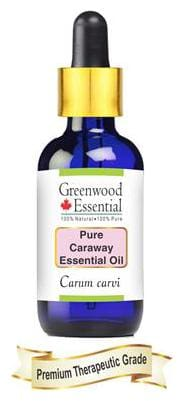Greenwood Essential Pure Caraway Essential Oil (Carum carvi) with Glass Dropper 100% Natural Therapeutic Grade Steam Distilled 15ml