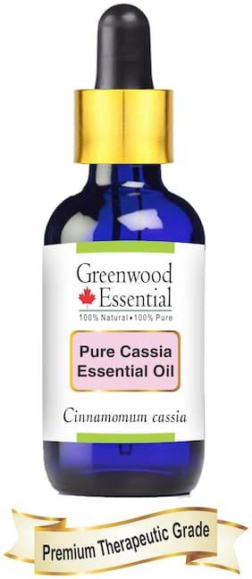 Greenwood Essential Pure Cassia Essential Oil (Cinnamomum cassia) with Glass Dropper 100% Natural Therapeutic Grade Steam Distilled 30ml