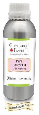 Greenwood Essential Pure Castor Oil (Ricinus communis) 100% Natural Therapeutic Grade Cold Pressed 300ml