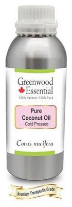 Greenwood Essential Pure Coconut Oil (Cocos nucifera) 100% Natural Therapeutic Grade Cold Pressed 300ml