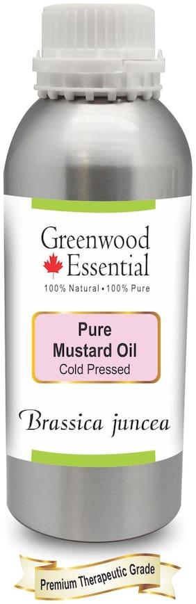 Greenwood Essential Pure Mustard Oil (Brassica juncea) 100% Natural Therapeutic Grade Cold Pressed 630ml