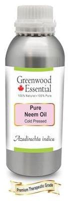 Greenwood Essential Pure Neem Oil (Azadirachta indica) 100% Natural Therapeutic Grade Cold Pressed 630ml
