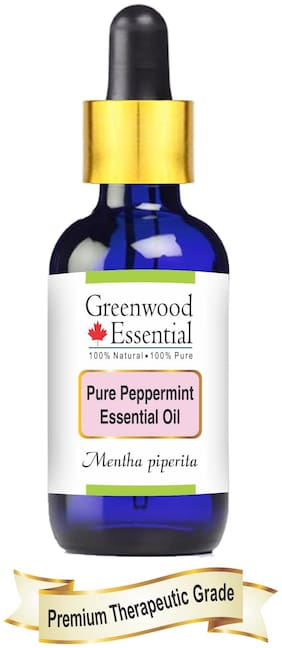 Greenwood Essential Pure Peppermint Essential Oil (Mentha piperita) with Glass Dropper 100% Natural Therapeutic Grade Steam Distilled 30ml