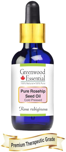 Greenwood Essential Pure Rosehip Seed Oil (Rosa rubiginosa) with Glass Dropper 100% Natural Therapeutic Grade Cold Pressed 15ml