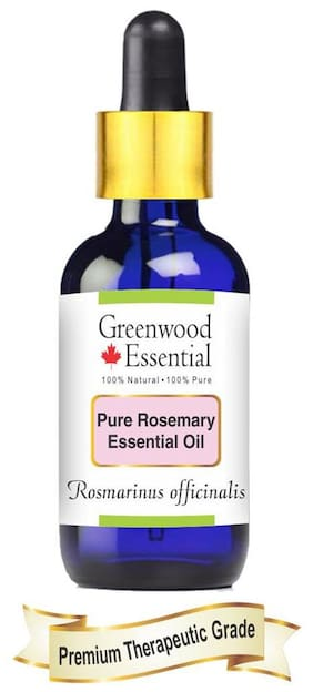 Greenwood Essential Pure Rosemary Essential Oil (Rosmarinus officinalis) with Glass Dropper 100% Natural Therapeutic Grade Steam Distilled 30ml