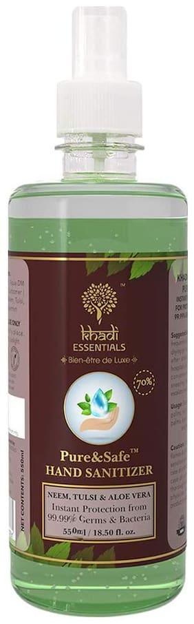 Pure&Safe Khadi Essentials Instant Hand Sanitizer - 550ml Spray