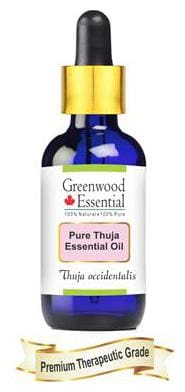 Greenwood Essential Pure Thuja Essential Oil (Thuja occidentalis) with Glass Dropper 100% Natural Therapeutic Grade Steam Distilled 10ml