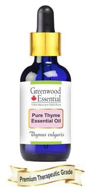 Greenwood Essential Pure Thyme Essential Oil (Thymus vulgaris) with Glass Dropper 100% Natural Therapeutic Grade Steam Distilled 30ml