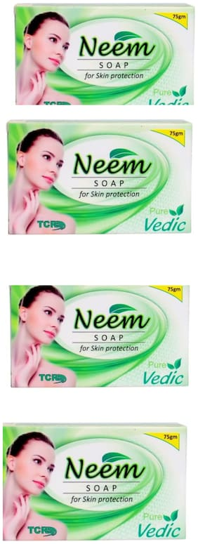 Pure Vedic Neem soap 75g (Pack of 4x75g)
