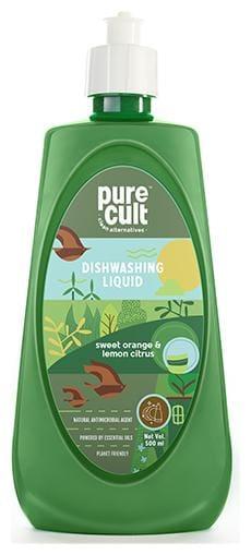 PureCult Dishwash liquid infused with Sweet Orange and Lemon Essential oil 500ml