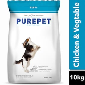Purepet Chicken & Vegetables Puppy Dry Dog Food, 10kg