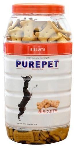 Purepet Dog Treats - Real Chicken Biscuit  Chicken Flavour 1 kg