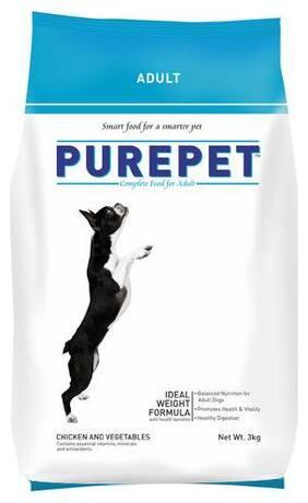Purepet Dog Food - Chicken & Vegetables  Adult 3 kg