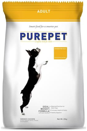 Purepet Smoked Chicken Adult Dry Dog Food, 17.25 kg