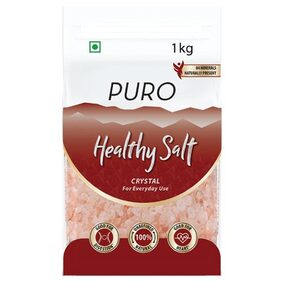 Puro Salt Crystals - 100% natural  chemical-free  unrefined salt with 84 minerals. 1 kg