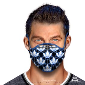 Purvani Xpression Art Mask with Metal Noseplate made of Ultralight Honeycomb Filter Material