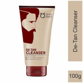 Qraa Men De-Tan Cleanser / Wash For Men For Skin Lightening/Brightening, with clove oil 100 g