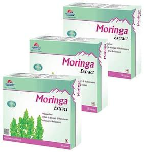 Quantum Naturals Moringa Extract - 500mg - 30 Capsules Pack of 3
