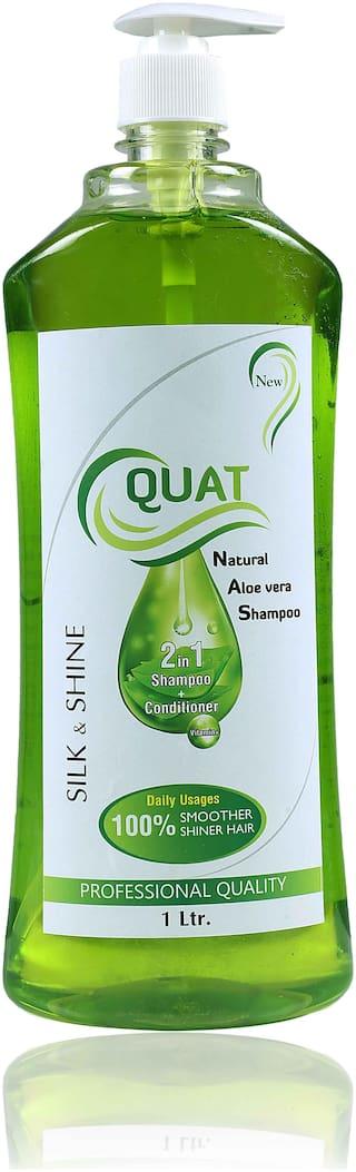 Quat Natural Aloe Vera Shampoo Silk&Shine 2 In 1 Shampoo + Conditioner, 1lt