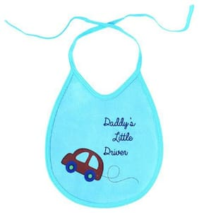 Quick Dry Babies Bibs - Car Print  Assorted Colours 4 pcs