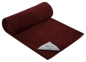 Quick Dry Baby Bed Protector - Plain Print, Maroon 1 pc