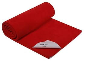 Quick Dry Baby Bed Protector - Plain Print, Red 1 pc