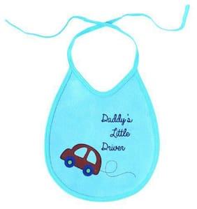 Quick Dry Babies Bibs - Car Print, Assorted Colours 4 pcs