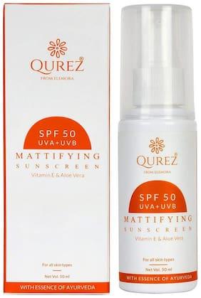 Qurez Mattifying Sunscreen SPF 50 Paraben Free 50ml