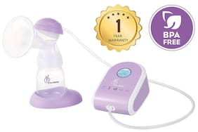R for Rabbit First Feed Delight Electric Breast Pump - Most Safe and Comfortable (Purple)