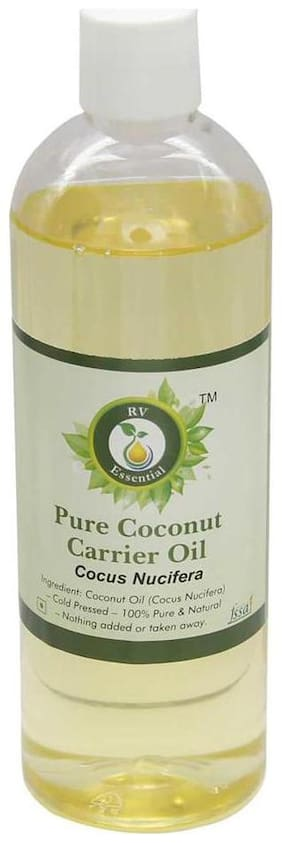 R V Essential Pure Coconut Carrier Oil 100Ml- Cocus Nucifera (100% Pure And Natural Cold Pressed)