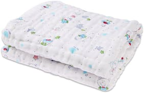 Rachna's 6-Layer Gauze Multi Print All Season Ultra Soft Muslin Cotton Baby Blanket Swaddle Wrapper (Prints May Vary)
