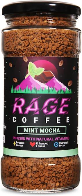 Rage Coffee Mint Mocha Flavour - Premium Arabica Instant Coffee | Boldest,Smoothest,Tastiest,All Natural Coffee-100g
