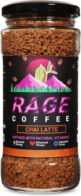 Rage Coffee Chai Latte Flavour - Premium Arabica Instant Coffee | Boldest,Smoothest,Tastiest,All Natural Coffee-100g