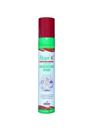 Rapi G Advance Instant Disinfectant Spray- Sterilizer Multi Purpose 100ml (Pack of 2)