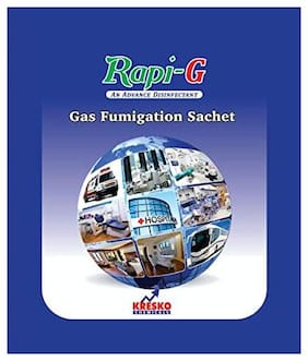 Rapi-G Gas Fumigation Sachet-Sterilizer, Fumigator For Clinic, Home, Office, Car, Suitable For Upto 3500 cubic Feet Space, Disinfect Area From Certified By WHO 20 g ( Pack of 5 )