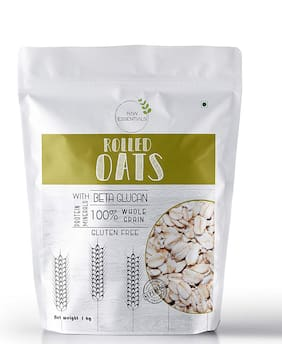 Raw Essentials Gluten free Rolled Oats 1kg (Pack of 1)