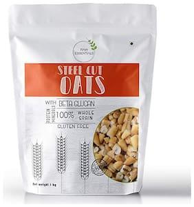 Raw Essentials Steel cut Oats 1kg (Pack of 1)