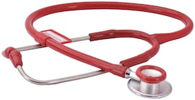 RCSP Micro Plus Red Multi Life Dual Head Acoustic Stethoscope (Red) Pack of 1