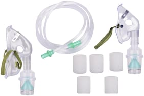 Rcsp Premium Quality Complete Nerbulizer Kit With Child And Adult Mask With 5 pcs Filter Free Adjuster Regulator Chamber Pack Of 1