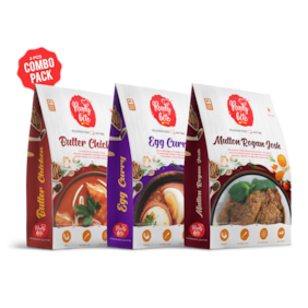 Ready 2 Bite Ready to Eat Egg Curry 300 g; Butter Chicken 300 g; Mutton Rogan Josh 300g Combo ( Pack of 3 )