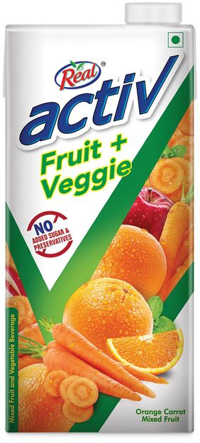 REAL ACTIV ORANGE CARROT 1L PACK OF 2
