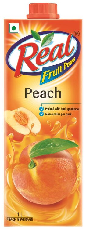 Real Fruit Power Peach 1 ltr Pack of 2