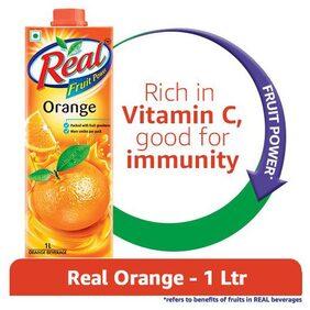 Real Fruit Power Orange 1 ltr Pack of 2