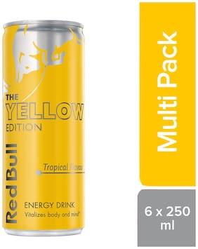 Red Bull Energy Drink Tropical Yellow Edition 250ml (6 Pack)